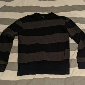 Zara Man black and grey striped sweater